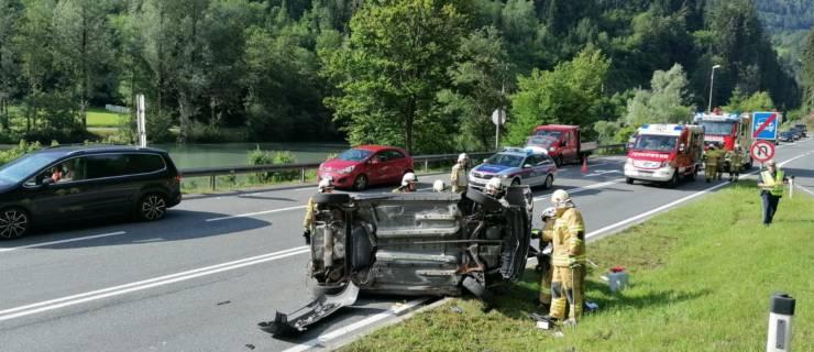 Verkehrsunfall Westportal Schönbergtunnel