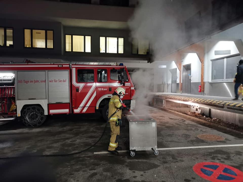 Brand im Klinikum