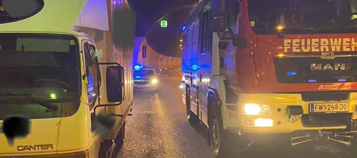 Fahrzeugbergung im Schönbergtunnel