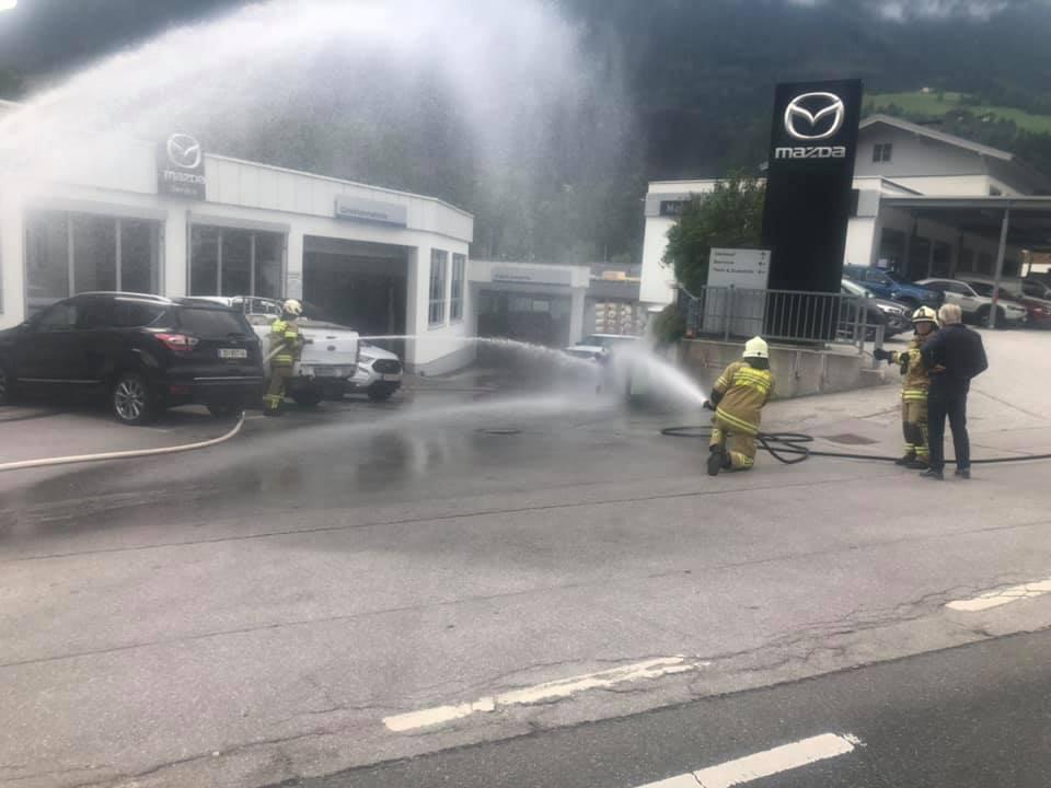 Brand Gasflasche Abtsdorf